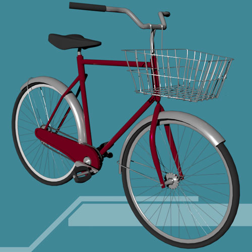 (2020) A Bicycle Asset for my City Project - made with 3ds Max.