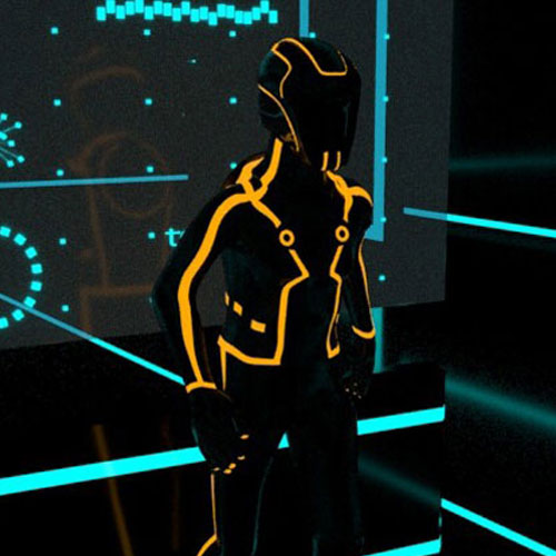1/2 - (2019) Tron Character male for a fictional Tron Teaser - made with Maya.