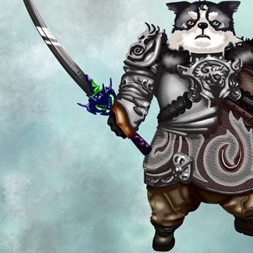 (2013) I made a Fanart of a Popori Character, Game: Tera Online - made with Painttool Sai.