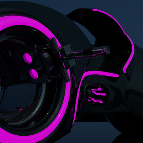 1/2 - (2019) Light Cycle Motorbike for a fictional Tron Teaser - made with Maya.